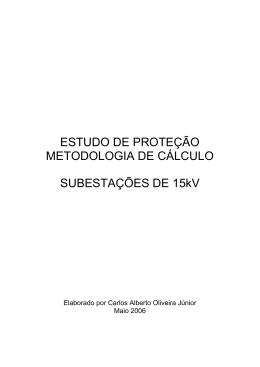 Metodologia de cálculo para o estudo de proteção em subestações