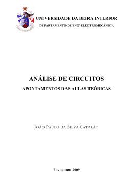 ANÁLISE DE CIRCUITOS - Universidade da Beira Interior
