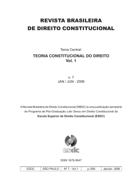 do vol. 01 - Escola Superior de Direito Constitucional