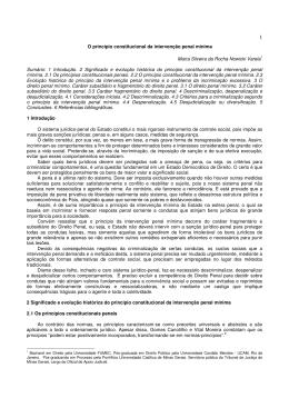 O princípio constitucional da intervenção penal mínima Maíra