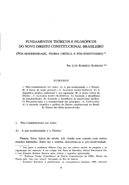 Fundamentos teóricos e filosóficos do novo direito constitucional