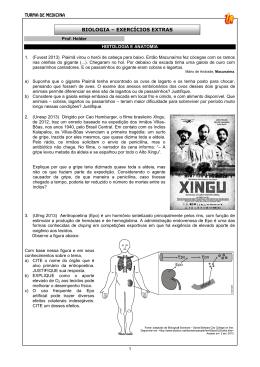 BIOLOGIA – EXERCÍCIOS EXTRAS
