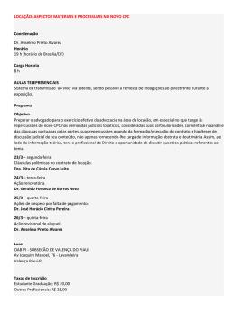 ASPECTOS MATERIAIS E PROCESSUAIS NO NOVO