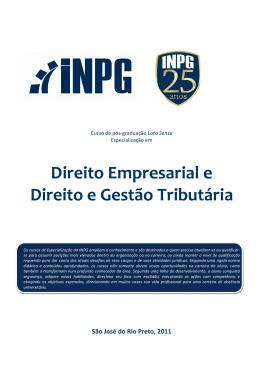 Direito Empresarial e Direito e Gestão Tributária