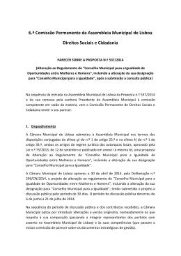 6.ª Comissão Permanente de Direitos Sociais e Cidadania