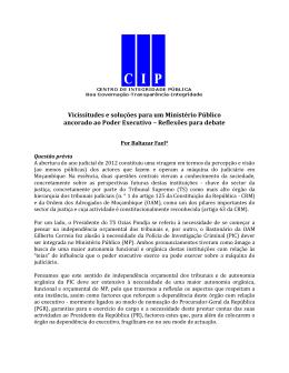 CIP_Vicissitudes e soluções para um Ministério Público ancorado