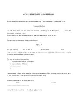 Acta de Constituição duma Associação
