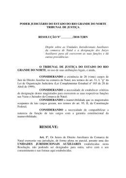 Resolução Juízes Auxiliares