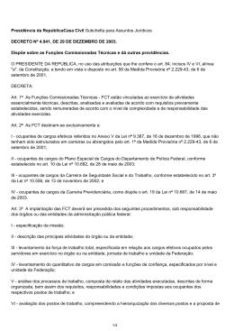 Presidência da RepúblicaCasa Civil Subchefia para