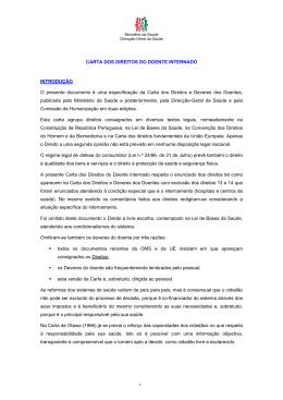 carta dos direitos do doente internado