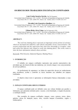 OS RISCOS DOS TRABALHOS EM ESPAÇOS CONFINADOS