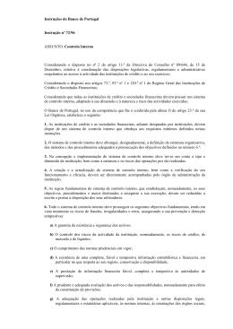 Texto da instrução N.º 72/96