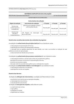 CRITÉRIOS ESPECÍFICOS DE AVALIAÇÃO