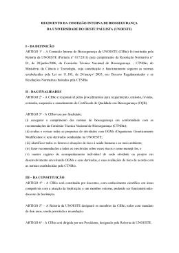 REGIMENTO DA COMISSÃO INTERNA DE