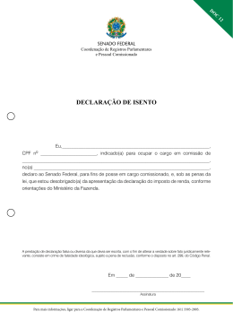 DECLARAÇÃO DE ISENTO