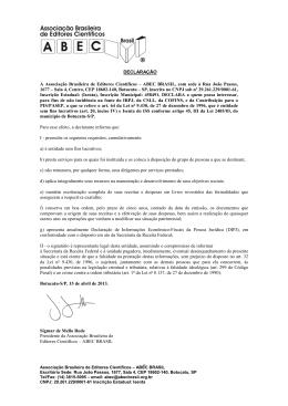 Declaração de Isento 15.04.2013