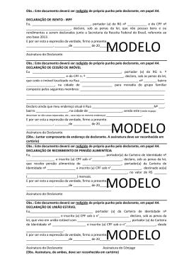 Modelos de declaração