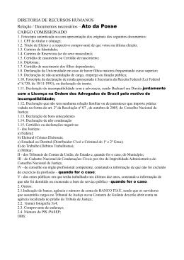 DIRETORIA DE RECURSOS HUMANOS Relação / Documentos