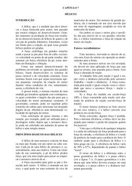 CAPÍTULO 7 HÉLICES INTRODUÇÃO A hélice, que é a unidade