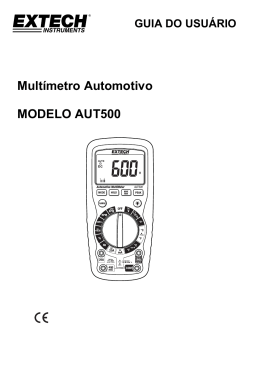 Multímetro Automotivo MODELO AUT500