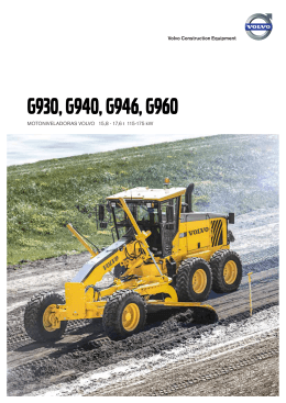 G930, G940, G946, G960 - Volvo Construction Equipment