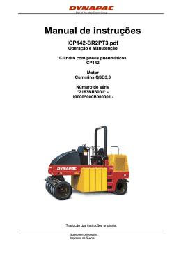Manual de instruções ICP142-BR2PT3