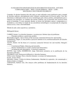 Programa - PPGD UFPR