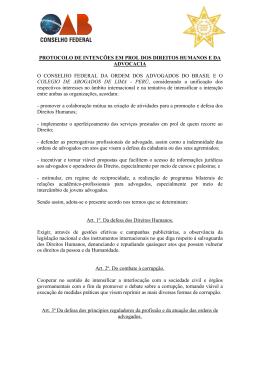 protocolo de intenciones en pro de los derechos humanos y de la