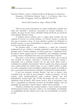 MASSINI CORREAS, Carlos I. Filosofía del Derecho: El