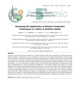 Assessing the Application of Cleaner Production Techniques in a