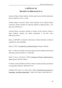 capítulo VII - referências bibliográficas
