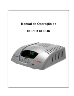 Manual de Operação do SUPER COLOR