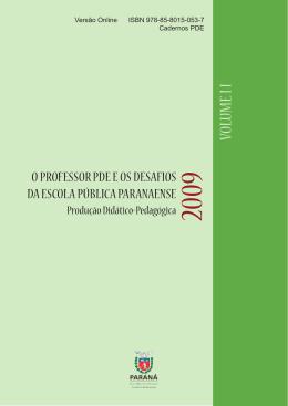 VOLUME I I - Secretaria de Estado da Educação do Paraná