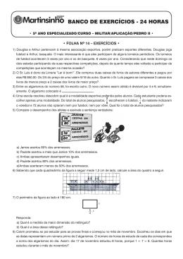 Folha 14 - Exercícios - Colégio Curso Martins