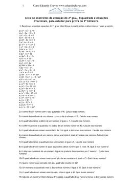 3-Equações do 2o. Grau