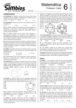 Lista 06 - Poliedros Convexos e Prismas