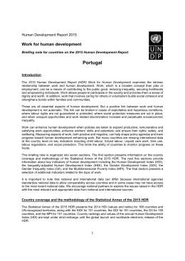 Portugal - Human Development Reports