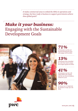 Make it your business: Engaging with the Sustainable Development