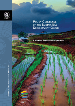 Policy coherence OF THE SUSTAINABLE DEVELOPMENT