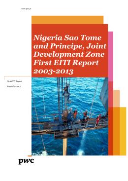 Nigeria Sao Tome and Principe, Joint Development Zone First EITI