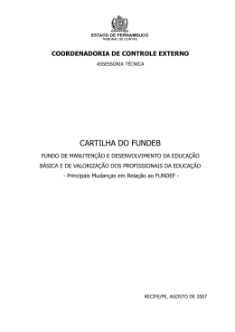 cartilha do fundeb - Tribunal de Contas do Estado de Pernambuco