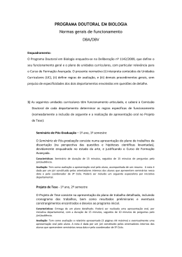 ormas Gerais de Funcionamento DBA/DBV