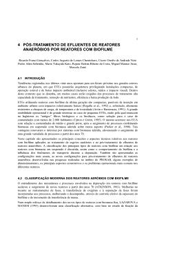 4 pós-tratamento de efluentes de reatores anaeróbios por reatores