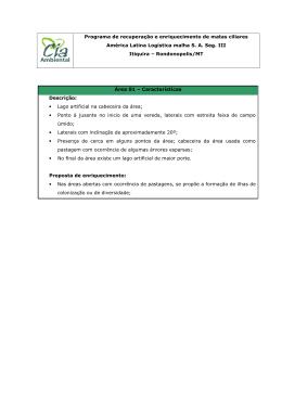 Seg III - Programa de enriquecimento de mata ciliar