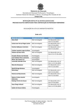 Inscritos para professor temporário de Ed. Física