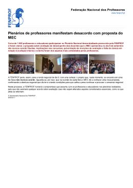 Plenários de professores manifestam desacordo com