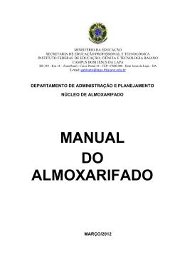 MANUAL DO ALMOXARIFADO
