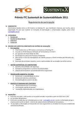 Prêmio ITC SustentaX de Sustentabilidade 2011