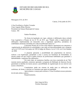projeto de lei nº 29/11