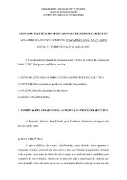 Fonoaudiologia/Linguagem - Centro de Ciências da Saúde